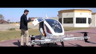 Dubai unveils a driverless flying airport taxi