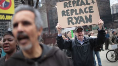 Health-care bill protesters