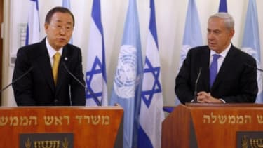 U.N. Secretary General Ban Ki-moon at a press conference with Israeli Prime Minister Benjamin Netanyahu on Nov. 20 in Jerusalem.
