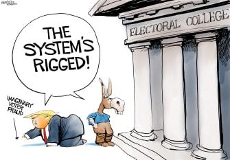 Political Cartoon U.S. Trump Democrats election