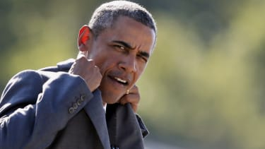 President Obama, on the way out.