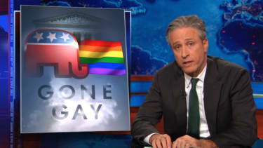 The Daily Show explores the GOP's (probably fleeting) embrace of gay marriage
