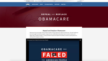 Repeal and replace Obamacare homepage.