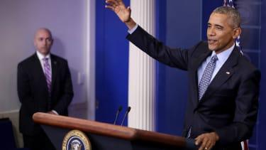 President Barack Obama gives his last press conference