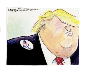 Political Cartoon U.S. Trump voted pouted