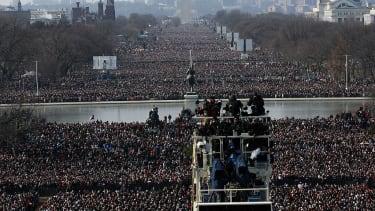 Obama inauguration crowd.