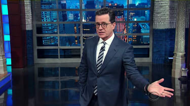 Stephen Colbert talks about Andy Puzder's withdrawal