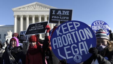 Pro-abortion, anti-abortion protesters