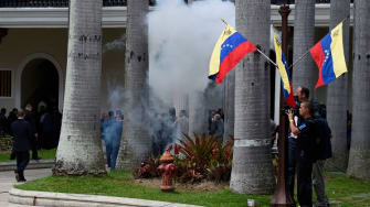 Explosions at the National Assembly in Venezuela.