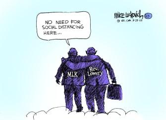 Editorial Cartoon U.S. RIP Rev Lowery civil rights MLK