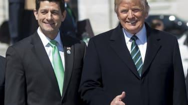 Paul Ryan and Donald Trump.