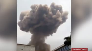 A screenshot showing an explosion in Bata.