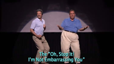 Chris Christie does 'The Evolution of Dad Dancing' with Jimmy Fallon