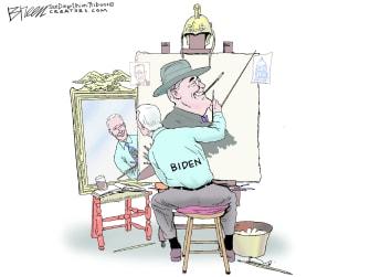 Political Cartoon U.S. biden fdr norman rockwell