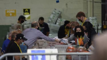 People count ballots in Allegheny County.