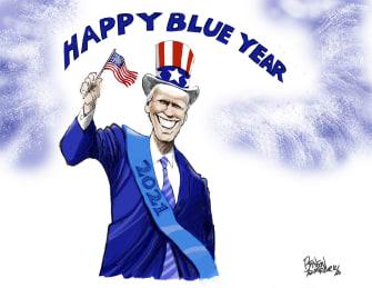 Political Cartoon U.S. Joe Biden president