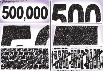 Editorial Cartoon U.S. 500000 covid deaths