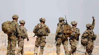 U.S. troops outside their base in Uruzgan province, Afghanistan.