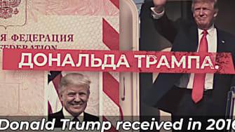 At attacks Trump in Russian