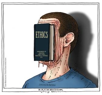Editorial Cartoon U.S. Facebook ethics