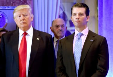 Donald Trump, Allen Weisselberg, and Donald Trump Jr.