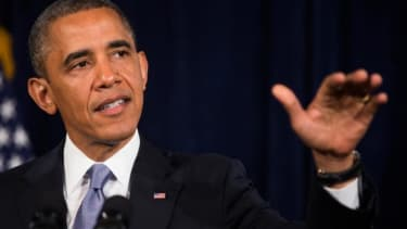 "The NSA ""struck the right balance,"" President Obama said."