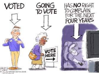 Editorial Cartoon U.S. Voters 2020