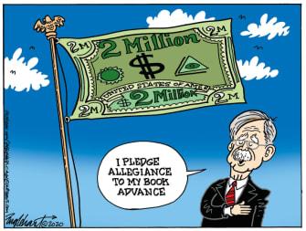 Political Cartoon U.S. Bolton book money