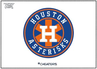 Editorial Cartoon U.S. Houston Astros Cheaters