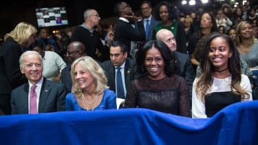 Vice President Joe Biden, Jill Biden, First Lady Michelle Obama, Malia Obama.