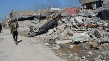 A massive strike in Mosul, Iraq.