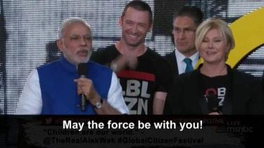Indian Prime Minister Narendra Modi got a rock star's reception in New York