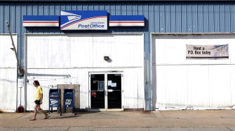 A post office.
