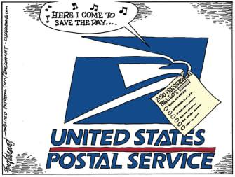 Editorial Cartoon U.S. USPS presidential election 2020