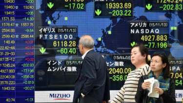 A bad day at the Tokyo Stock Exchanage
