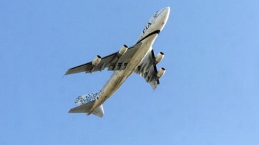 A Pakistan Airlines' airplane takes off from Karachi.