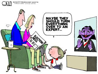 Political Cartoon U.S. election 2020 count