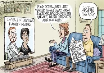 Editorial Cartoon U.S. meghan harry oprah