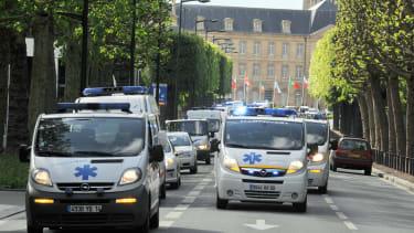 French ambulances.