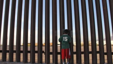 Child at US-Mexico border.