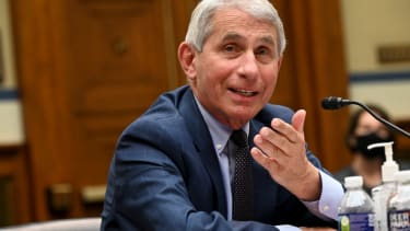 Anthony Fauci, director of the National Institute of Allergy and Infectious Diseases, testifies during a House Select Subcommittee on the Coronavirus Crisis hearing on July 31, 2020 in Washin