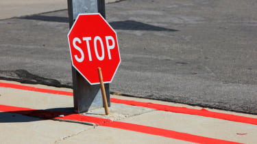 A crossing guard's sign.