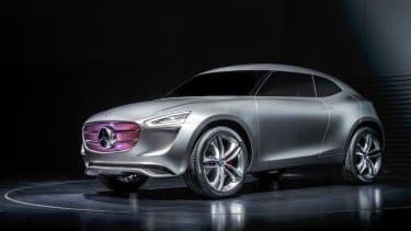Mercedes' beautiful new Vision G-Code concept car has a solar-panel paint job