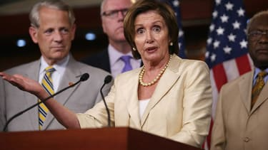 Watch Nancy Pelosi angrily chase Republican Tom Marino across the House floor