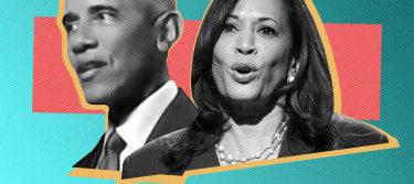 Barack Obama and Kamala Harris.