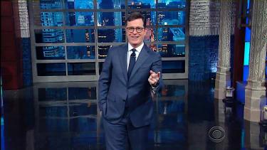 Stephen Colbert weighs in on Trump follow Emergency Kittens on Twitter