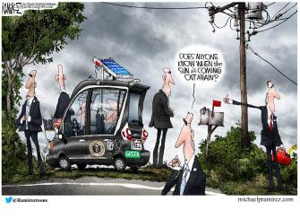 Political Cartoon U.S. biden green new deal