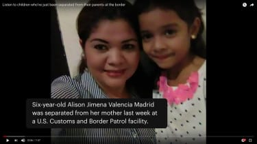 Six-year-old separated from her mother.