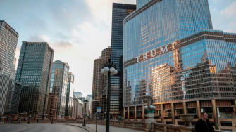 Trump hotel in Chicago.