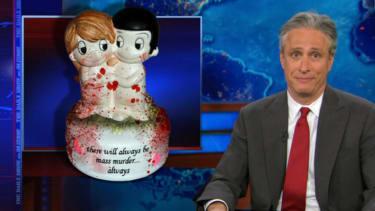 Jon Stewart throws up his hands over America's gun-violence apathy